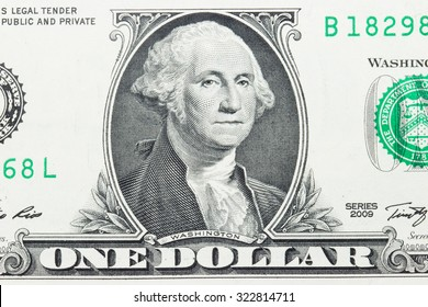 Close up of one dollar