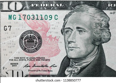 Close up of a one dollar bill.Concept of money and earnings.