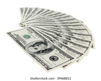 close up one hundred dollars banknotes