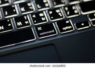 close up option key pad and blur background