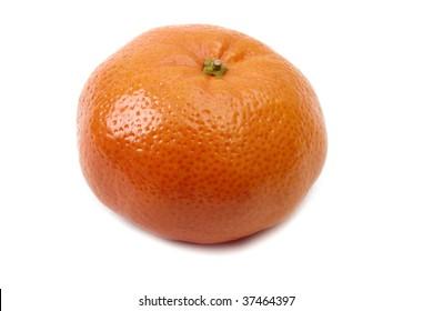 Close up orange isolated on white background