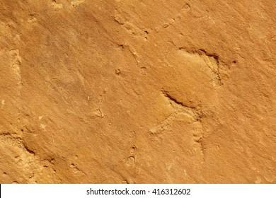 close up of an orange sandstone background