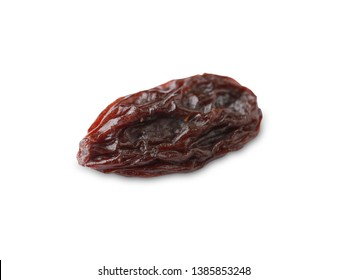 Close up of organic dried Raisin isolated on white background.With clipping path.