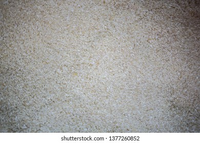 Close up of organic white rice