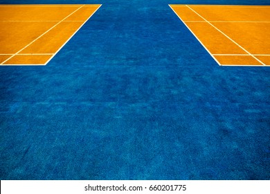 Close up of outdoor badminton court