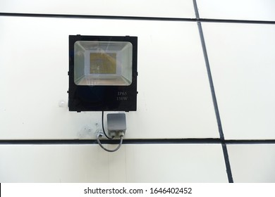 Close up of the outdoor waterproof LED floodlight