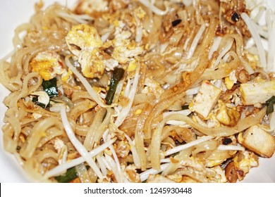 close up of Padthai, Thai traditional dish