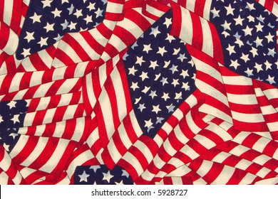 close up painted american flag pattern