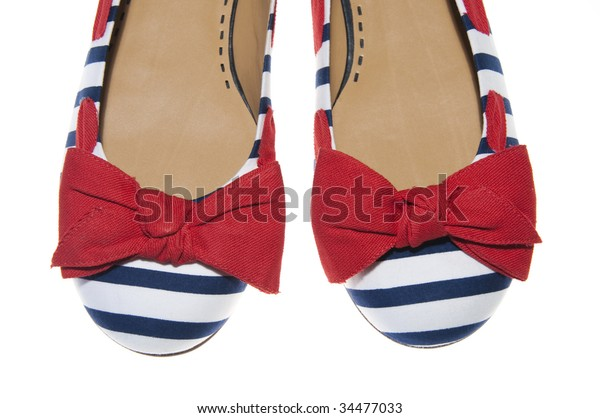 Nautical Blue And White Womens Shoes