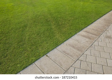 Close up of pavement in the park