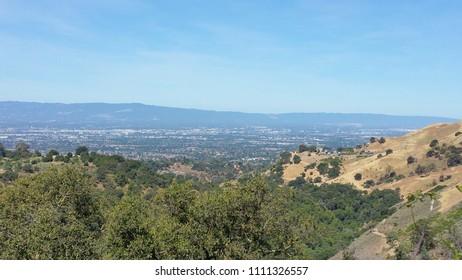 Close to peak of mountain in Alum Rock Park, San Jose, California, Sunday, June 10, 2018, roughly 11 am