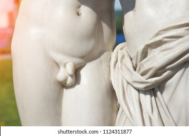 Close up of the penis Classic statue