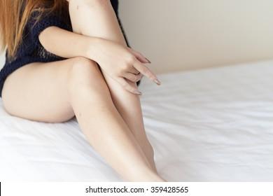 Close up of a perfect female leg