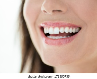 close up of a perfect smile