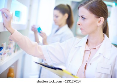 Close up of pharmacist