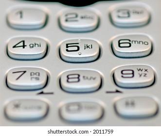 a close up of a phone keypad