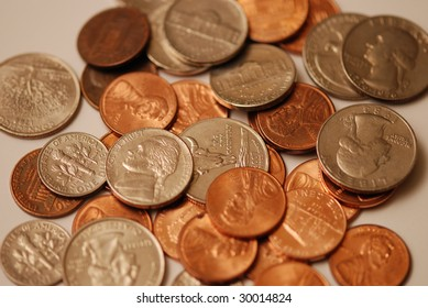 Close up photo of coins