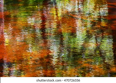 Close up photo of colorful abstract water reflection