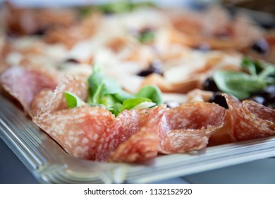 close up photo of deli meat platter