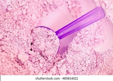 Close up photo of dental alginate impression material powder