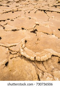 Close up photo of mineral formations on the sulphur lake Dallol in a volcanic explosion crater in the Danakil Depression, Ehtiopia.
