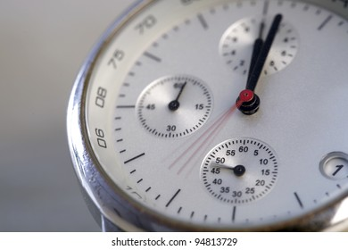 Close up photo of a modern watch