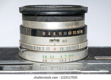 close up photo of old camera lens with dusty