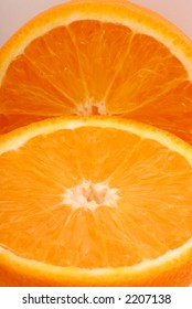 Close up photo of an orange.