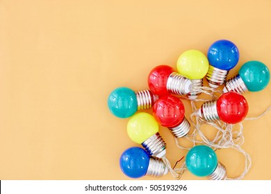 A close up photo of party lights
