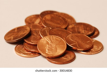 Close up photo of pennies