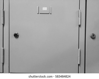 Close up photo of school locker for texture or text background