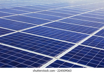 close up of photovoltaic power generation