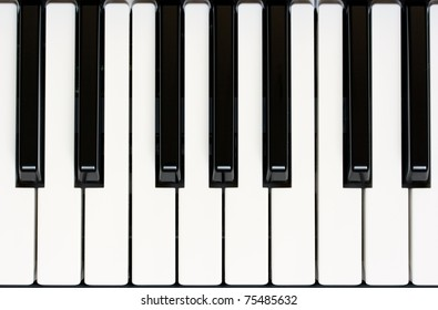 close up of piano keyboard