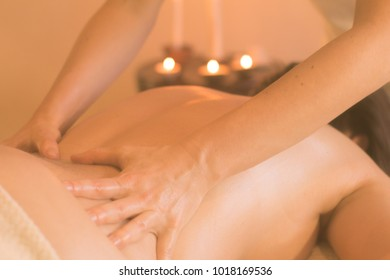 close up picture of massage process