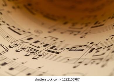 Close Up of a Piece of Sheet Music.