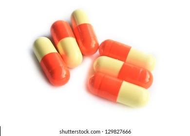 Close up pills./Pills.