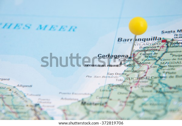 Cartagena Colombia Map on