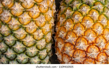 Close up of pineapple texture background