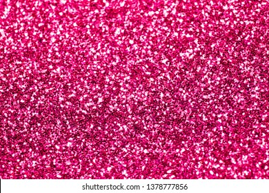 Close Up of Pink Glitter with Bokeh For Background