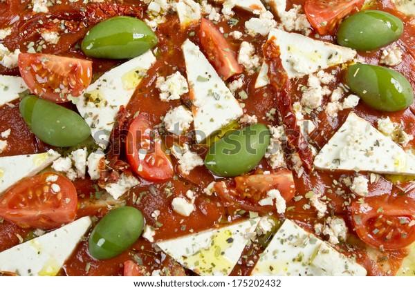 close up pizza vegan