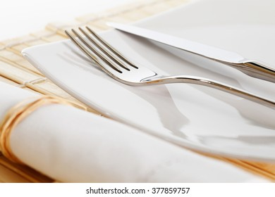 close up of a place setting
