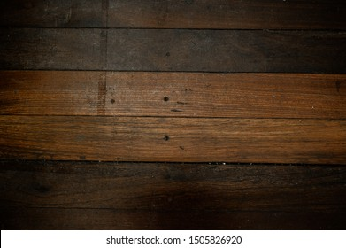 Close up plank wood table floor with natural pattern texture. Empty  wooden board  background.