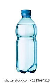 close up of a plastic water bottle