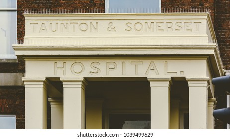 Close up of Porch of Old Taunton and Somerset Hospital, Split Toning Shallow Depth of Field