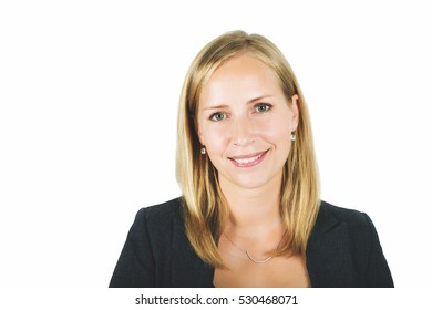 Close up portrait of 35 year old woman in formalwear