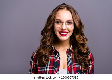 887194b832a Close up portrait of amazing beautiful she her lady people person sweet  awesome hairdo cosmetics toothy