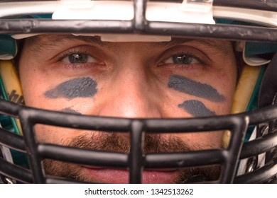 Close up portrait of American Football Player