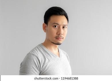 Close up portrait of Asian man.