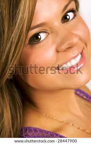 Idea pretty brunette teen facial