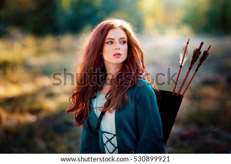 girl archer Redhead